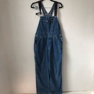 Vtg Tommy Hilifiger Overalls size lg 100% cotton